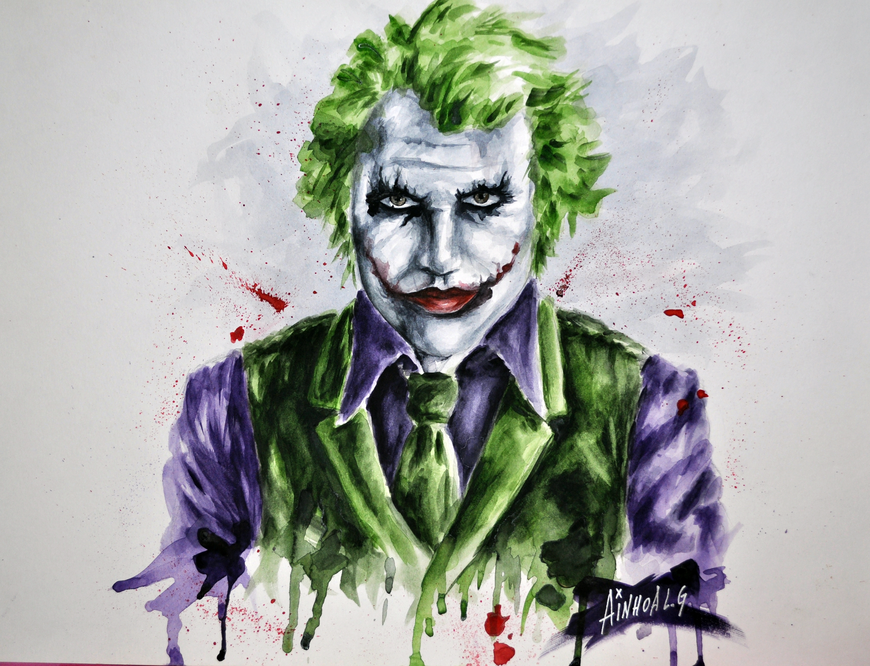 Heath Ledger Joker Drawing At Getdrawingscom Free For