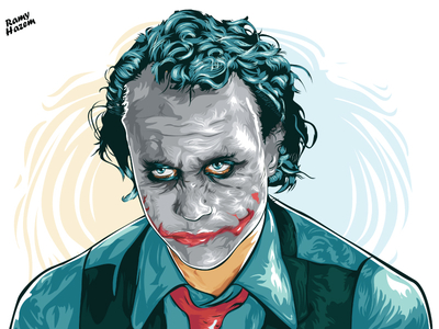 400x300 Joker Heath Ledger By Ramy Hazem