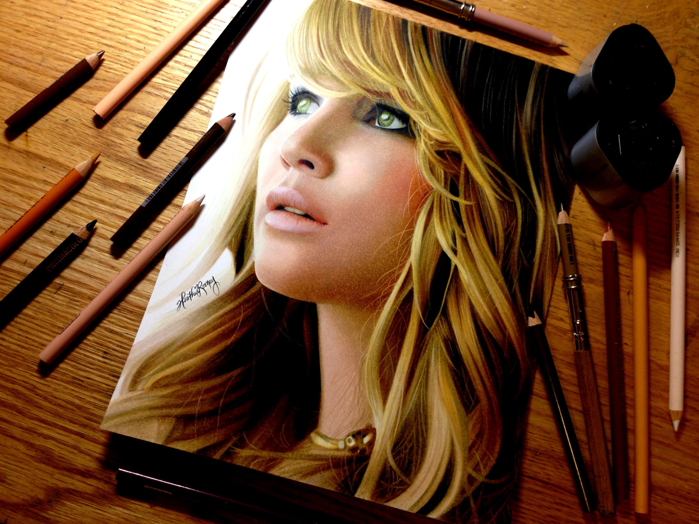 3000x2250 Drawing Jennifer Lawrence