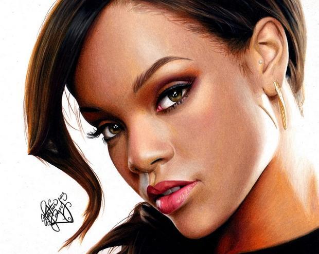 620x495 Drawing Rihanna By Heatherrooney