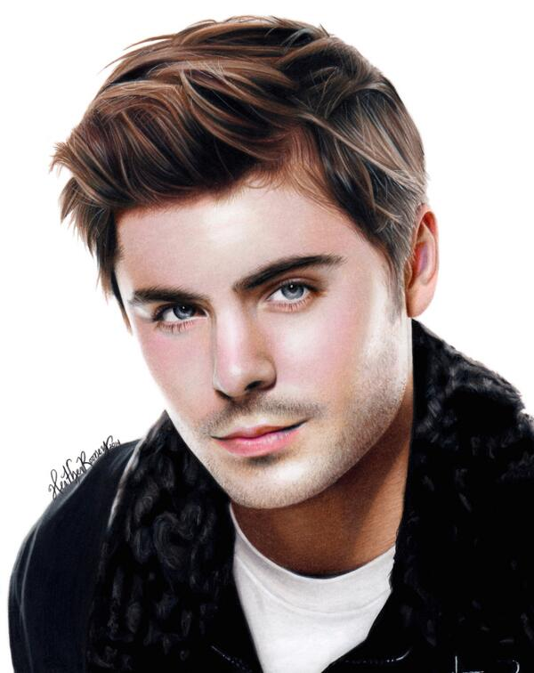 600x756 Heather Rooney On Twitter Colored Pencil Drawing Of Zac Efron