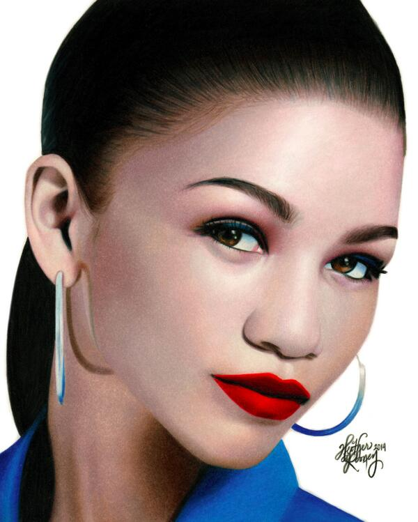 600x749 Heather Rooney On Twitter Colored Pencil Drawing Of Zendaya
