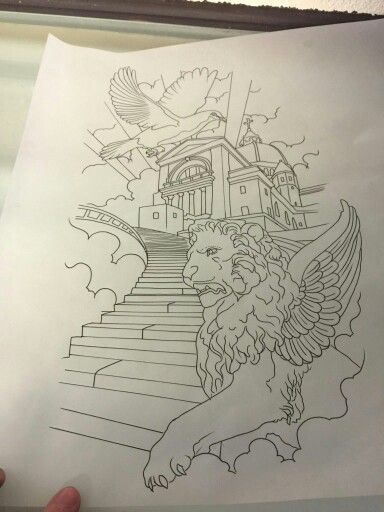 384x512 Drawing Of Upper Half Of New Sleeve Stairway To Heaven My