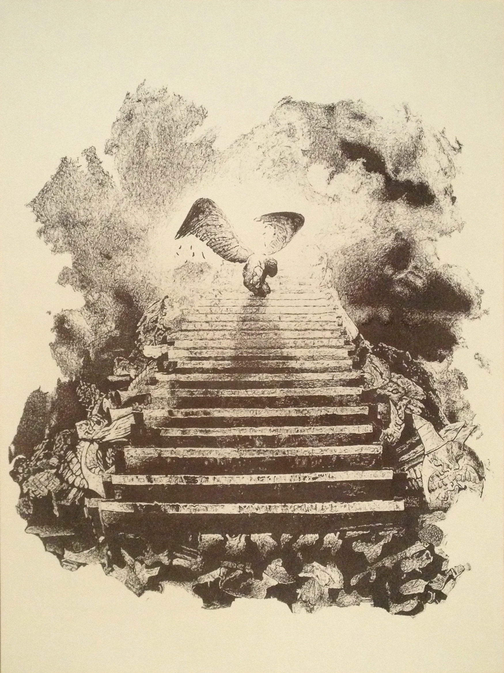 1750x2340 Stairway To Heaven Drawing