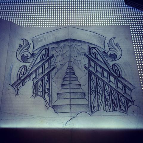 480x480 Gates Of Heaven Tattoo Drawings