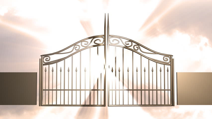 852x480 Gates Of Heaven Christianity Concept. Stock Footage Video 656647