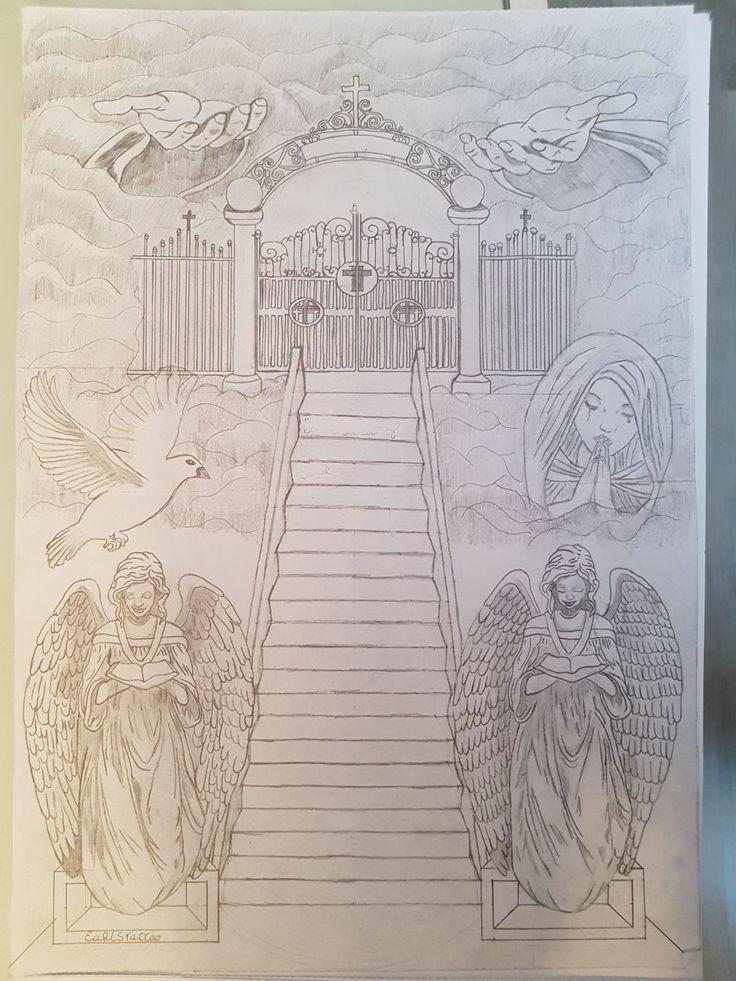 736x981 Stairway To Heaven Back Tattoo Tattoo's Stairways