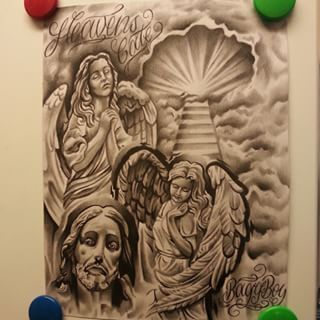 320x320 27 Best Heavenly Tattoo Flash Images On Glitter