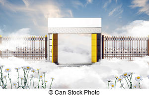 300x195 Gates Heaven Illustrations And Clipart. 612 Gates Heaven Royalty
