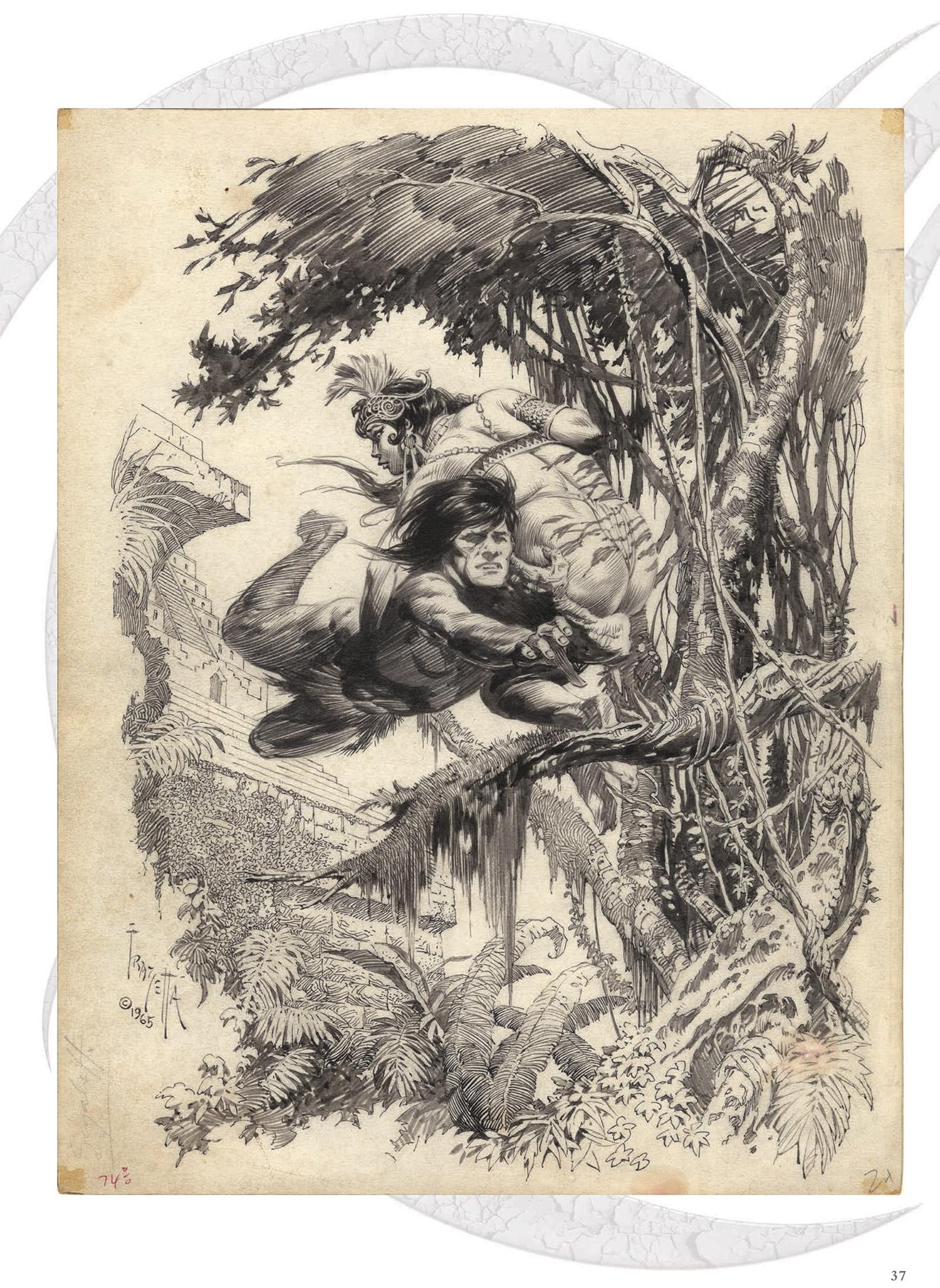 1500x2056 Best Pencil Drawing About Tarzan Massive Frank Frazetta Art