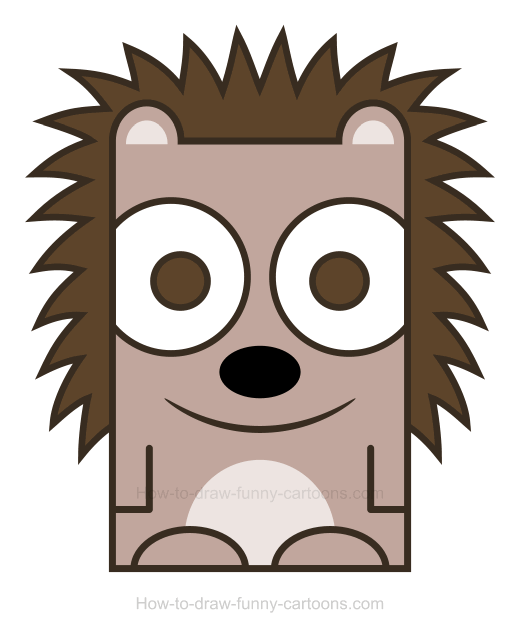 520x637 Hedgehog Clipart