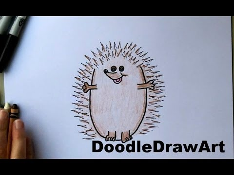 480x360 How To Draw A Hedgehog! Cute Cartoon Art Drawing Tutorial For Kids