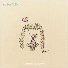 236x236 Hedgehog Illustration Print Ink Drawing Print Black Amp White Wall