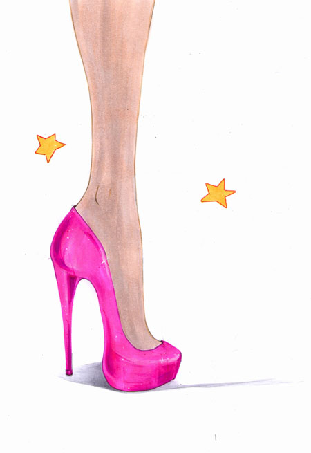 450x655 How To Draw High Heels High Heel, Drawings And Fashion Illustrations