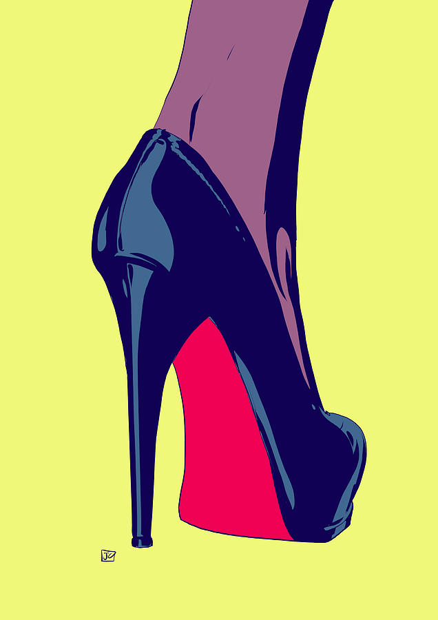 636x900 Shoe Drawing By Giuseppe Cristiano