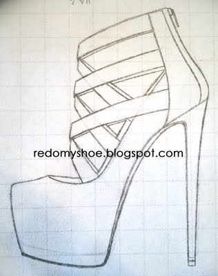 316x400 How To Draw A Perfect High Heel Redo My Shoe Imagine These