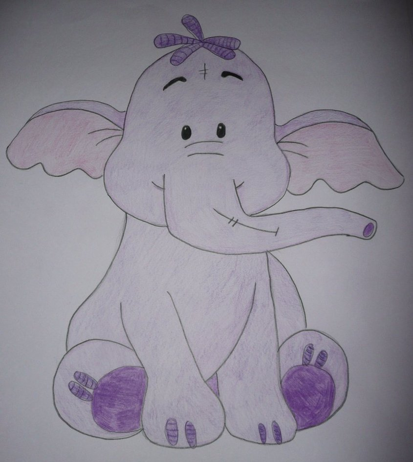 845x945 Heffalump Drawing By Chloesmith8