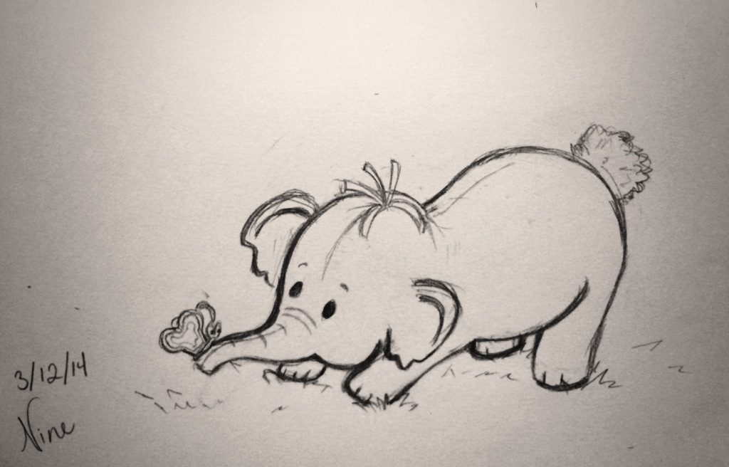 1024x656 Heffalump Sketch (Wip) By Nine Sketchbooks