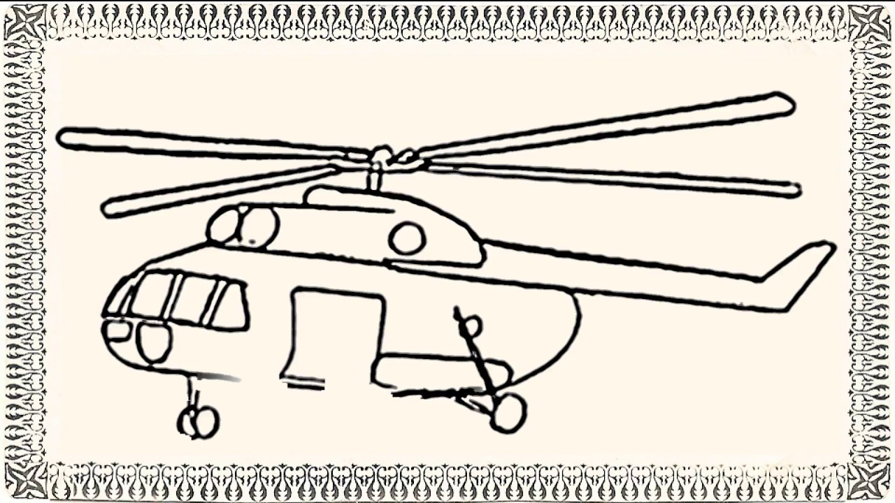 1280x720 How To Draw Helicopter