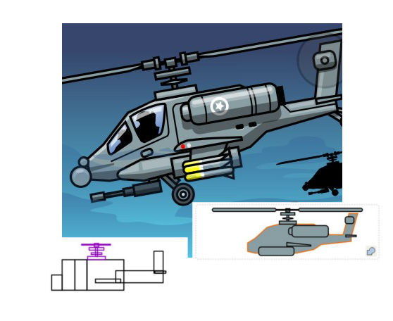 558x456 Drawing A 2d Helicopter With Inkscape Inkscape Tutorials Blog
