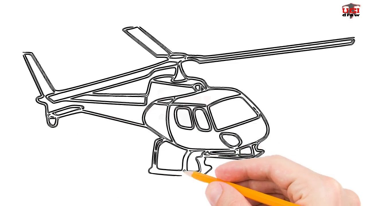 1280x720 How To Draw A Helicopter Step By Step Easy For Beginnerskids