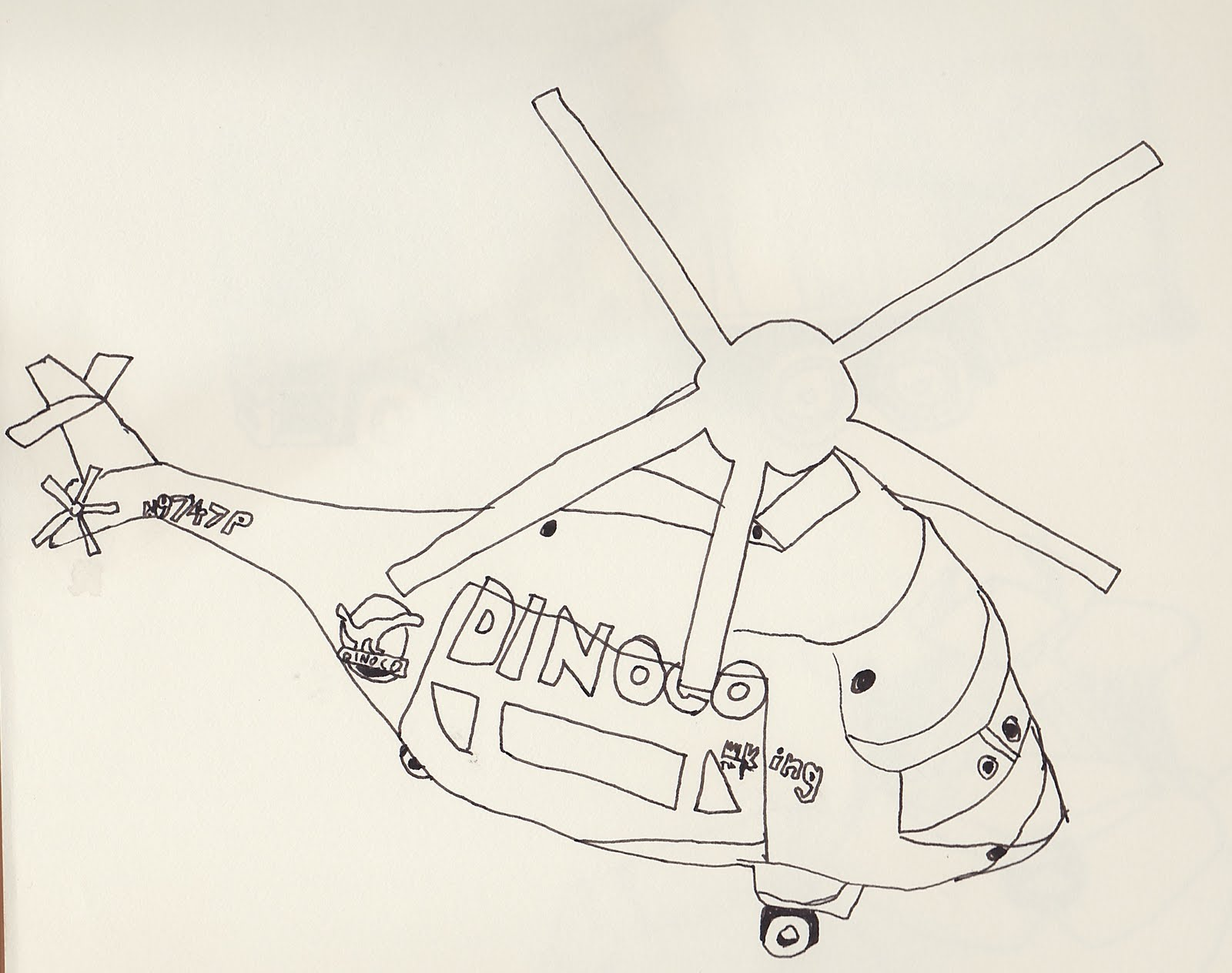 1600x1264 Steve Learns To Draw Dinoco Helicopter