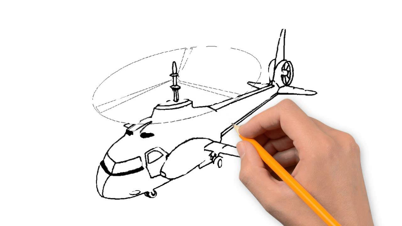 1280x720 Helicopter Transport Pencil To Draw Step By Step