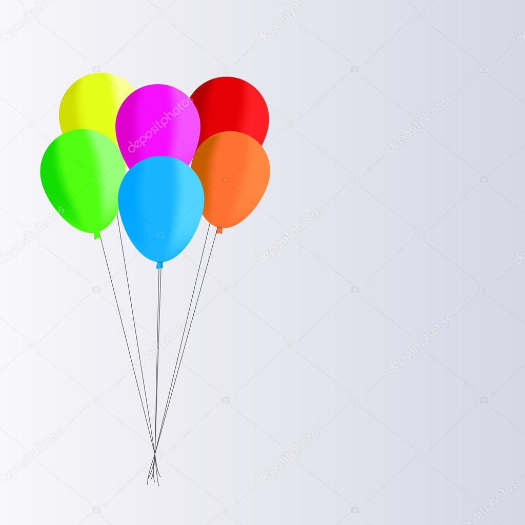 1024x1024 Vector Drawing Of Balloons Filled With Helium To Celebrate