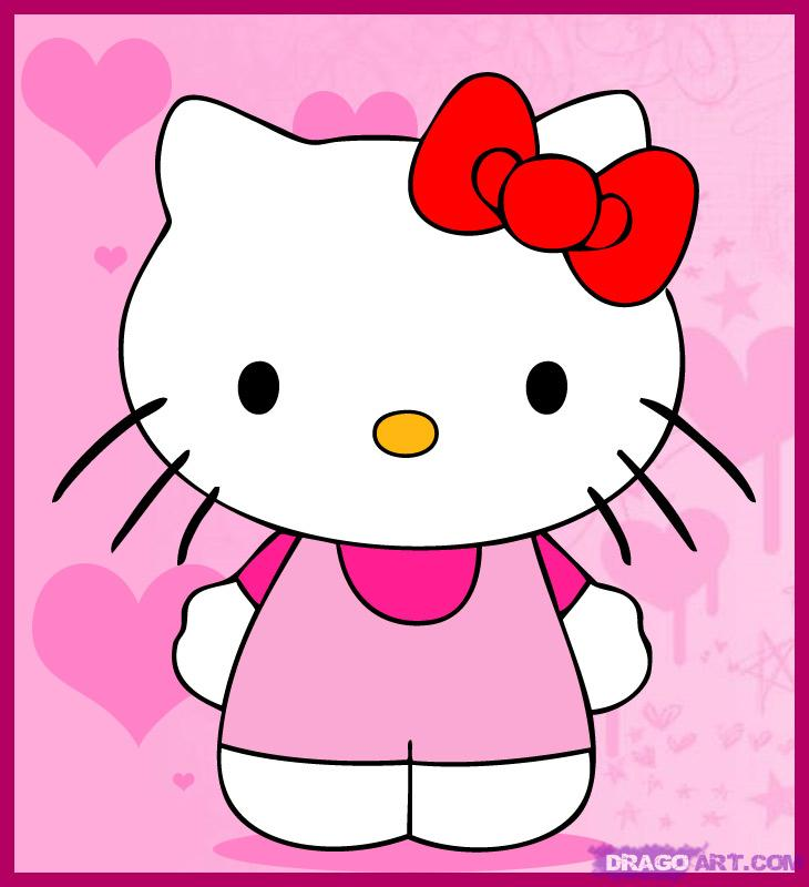 730x800 How To Draw Hello Kitty, Step By Step, Characters, Pop Culture