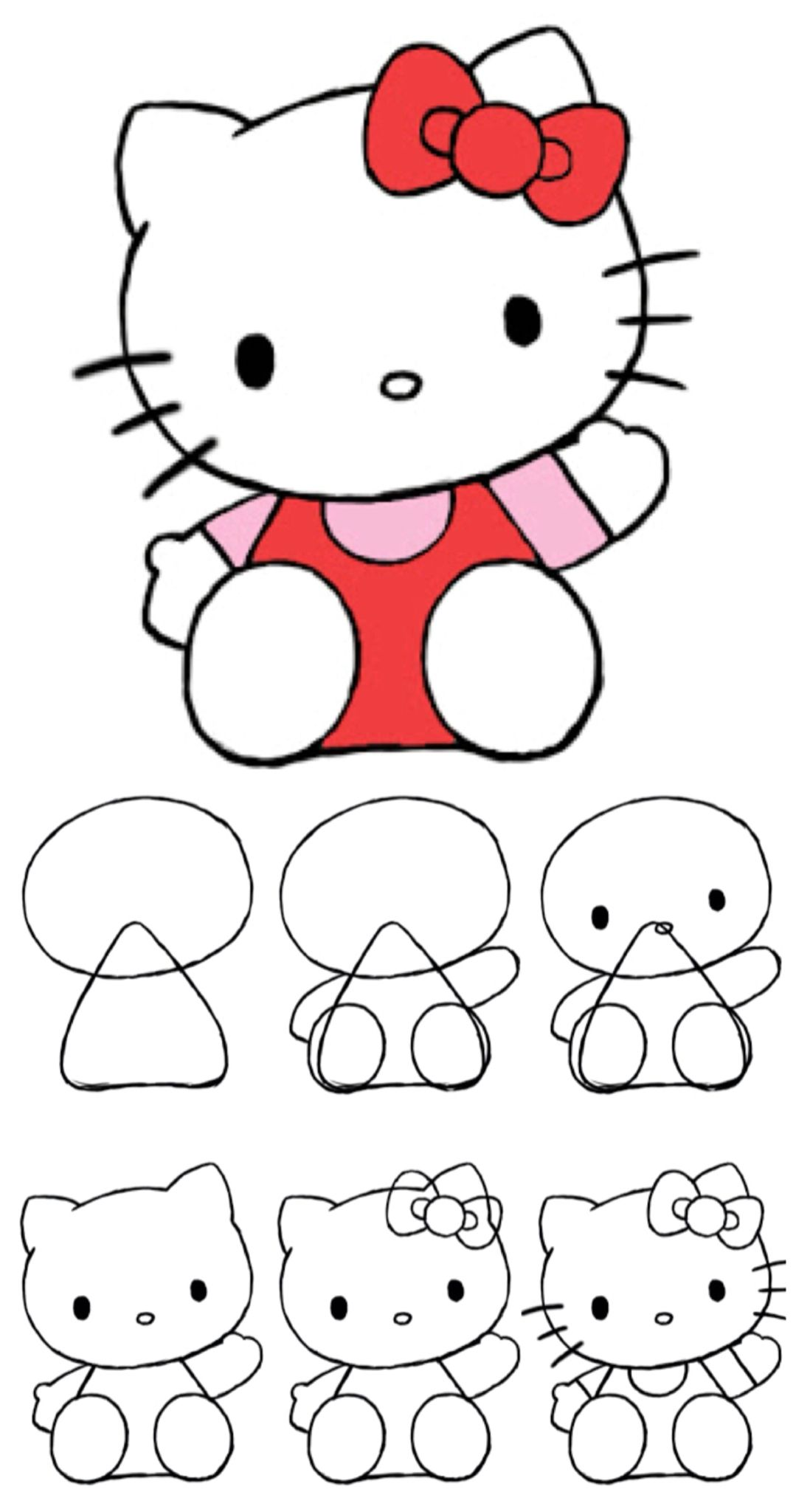 1098x2048 How To Draw Hello Kitty Hello Kitty, Kitty And Drawings