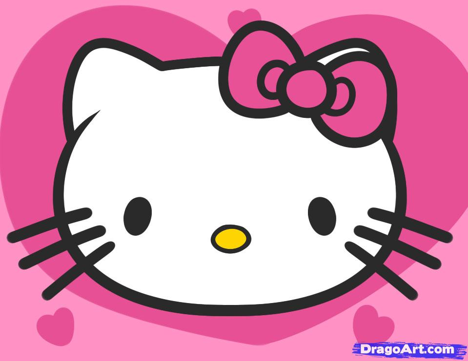 959x741 How To Draw Hello Kitty For Kids, Step By Step, Characters, Pop