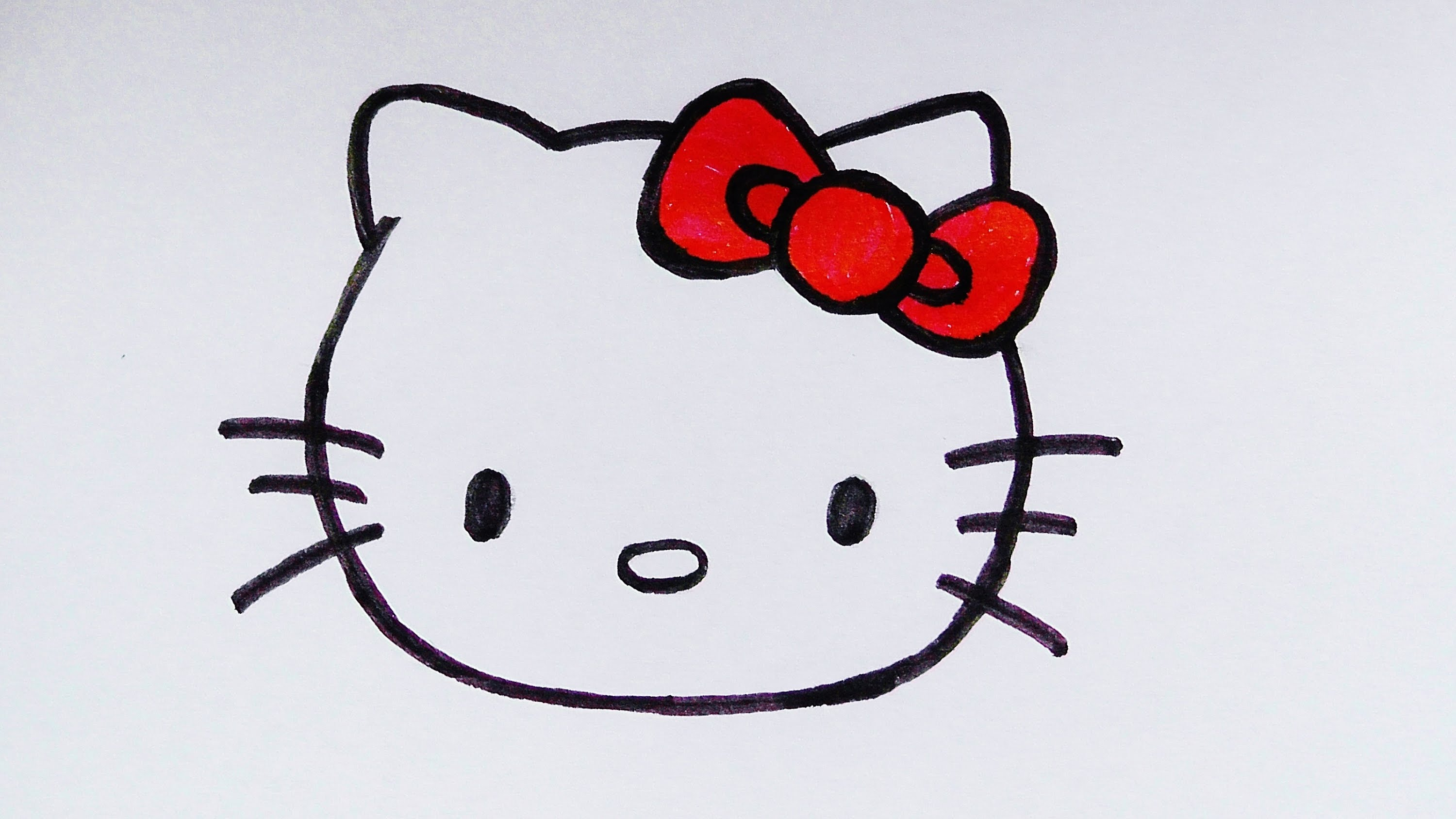 3000x1688 How To Draw A Hello Kitty Face