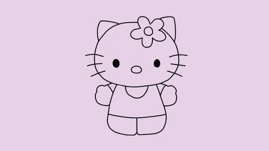 550x309 2 Easy Ways To Draw Hello Kitty Step By Step