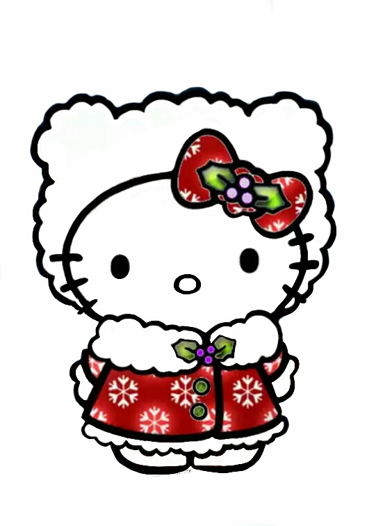 528x756 Christmas Hello Kitty By Icepixsee