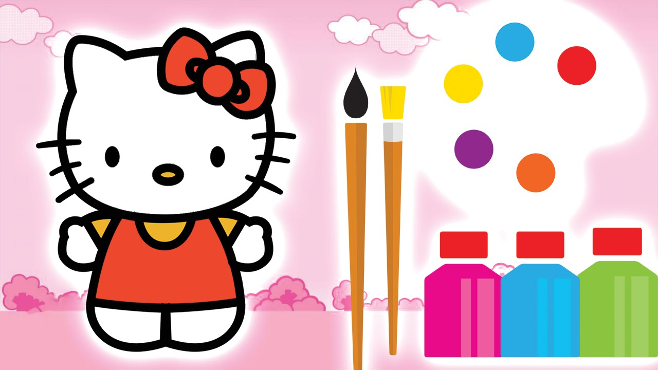 1280x720 Hello Kitty Drawing Animation How To Draw Characters From Hello