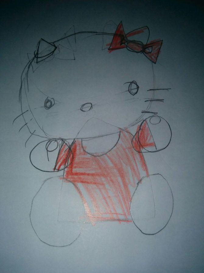 670x893 2 Easy Ways To Draw Hello Kitty Step By Step