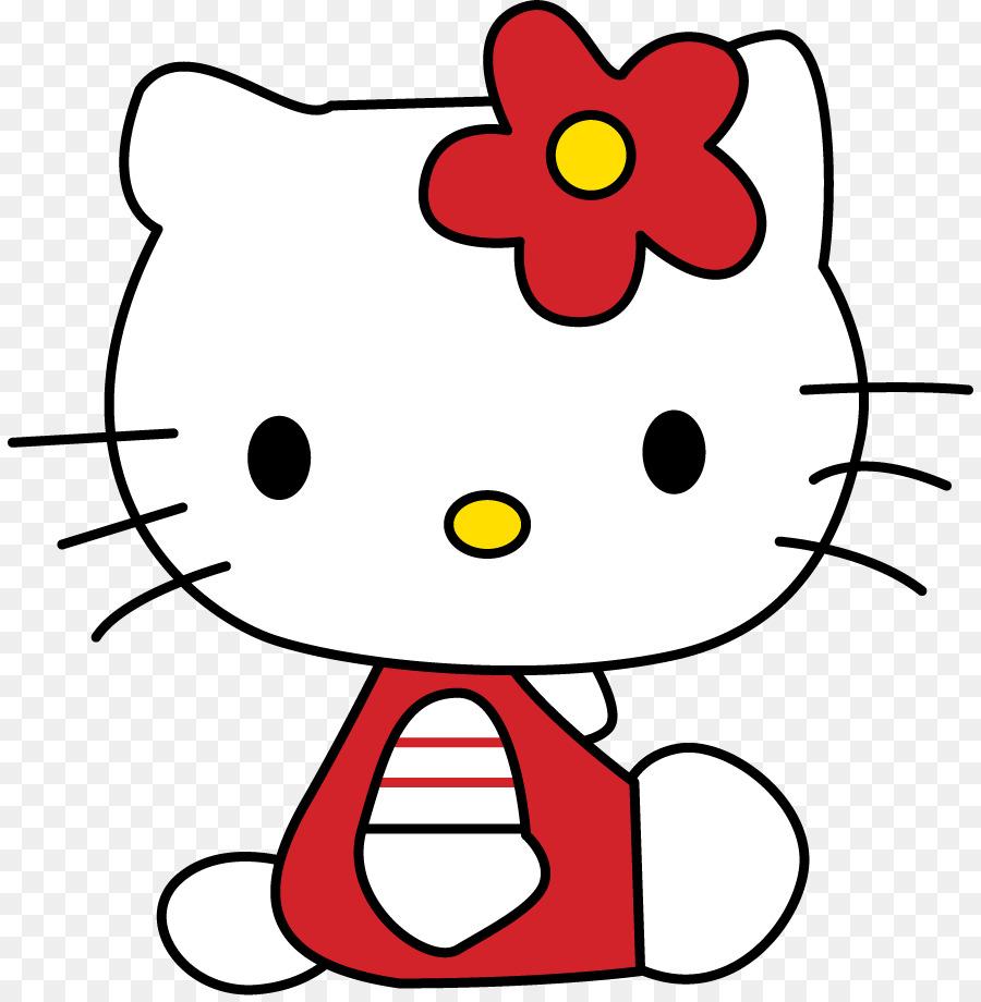 900x920 Hello Kitty Drawing Art