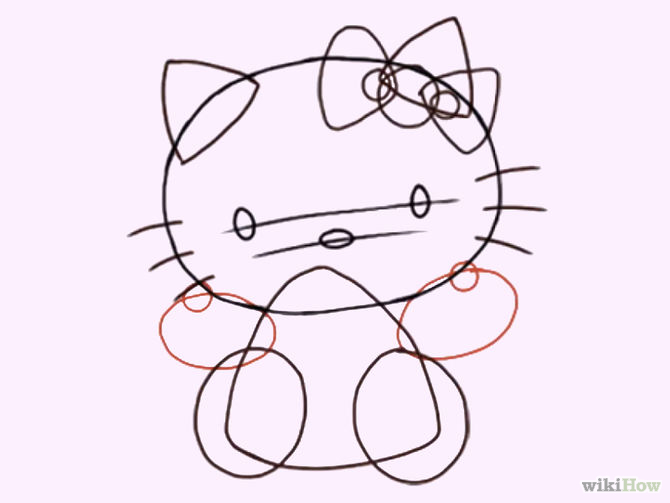 670x503 How To Draw Hello Kitty