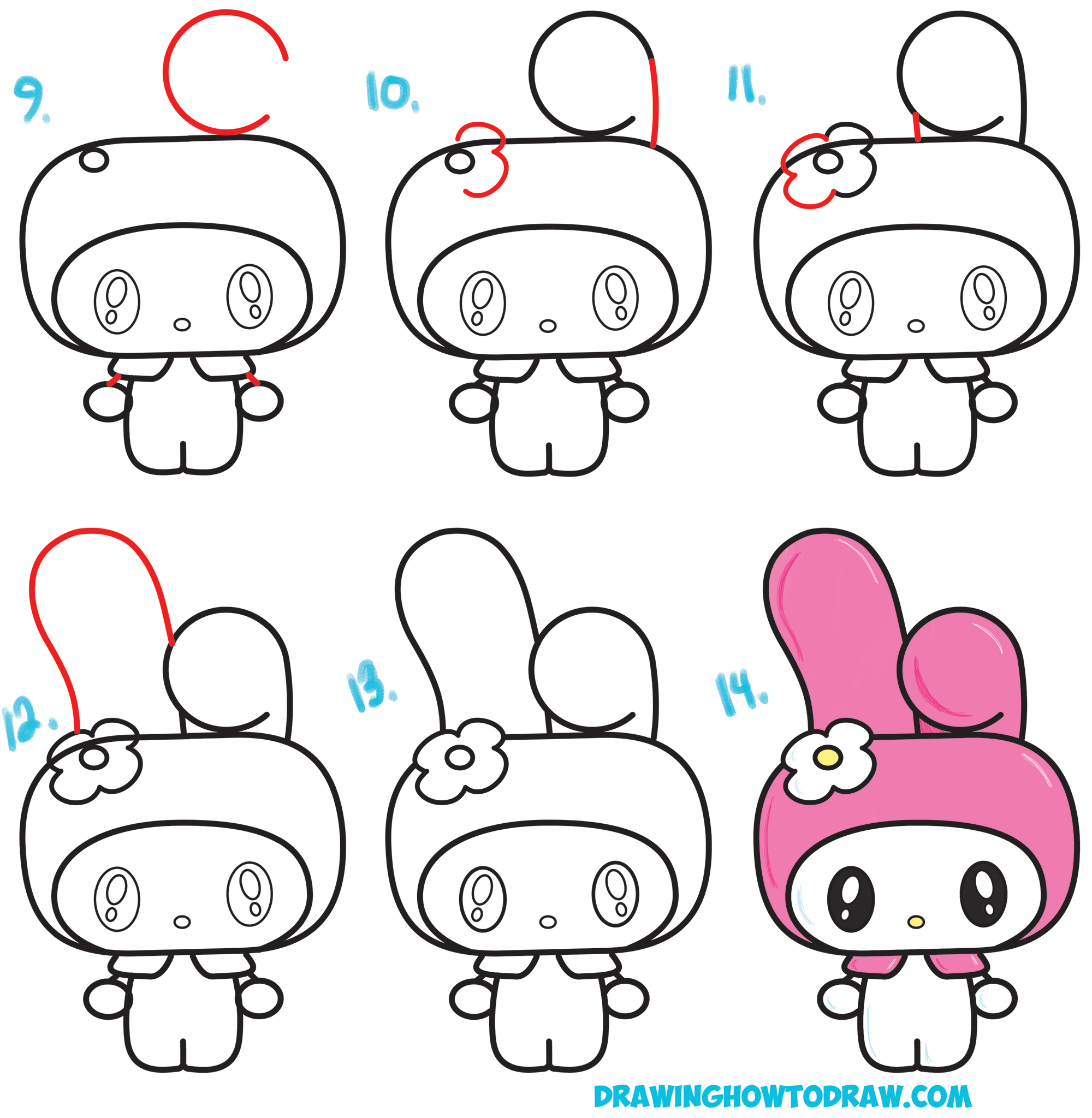 2000x2048 How to Draw Kawaii Chibi My Melody from Hello Kitty A Cute