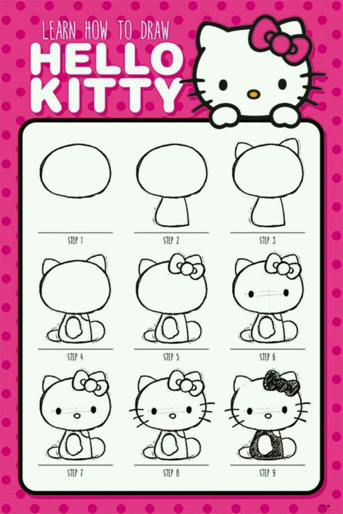 683x1024 How To Draw Hello Kitty Official Poster Jou Jou