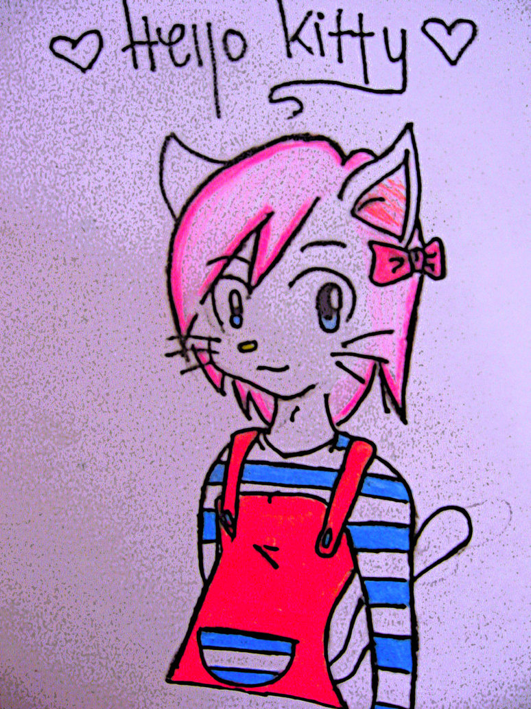 774x1032 Hello Kitty Drawing