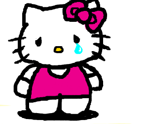 300x250 Sad Hello Kitty (