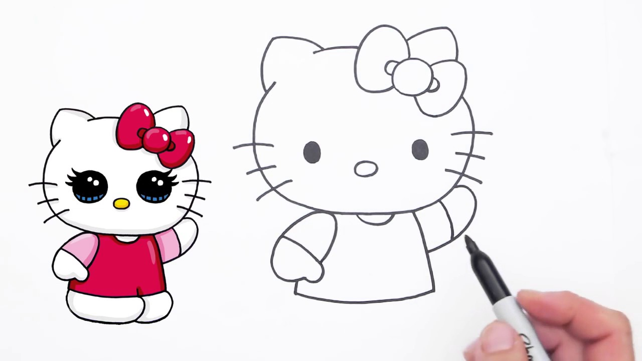 Gratis Ausmalbilder Hello Kitty : Hello Kitty Drawing Step By Step At Getdrawings Com Free For