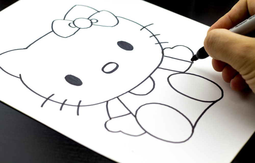 Hello Kitty Hawaiian Coloring Pages : Hello kitty drawing step by step at getdrawings.com free for
