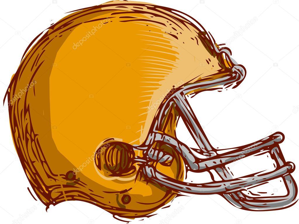 1023x767 American Football Helmet Drawing Stock Vector Patrimonio