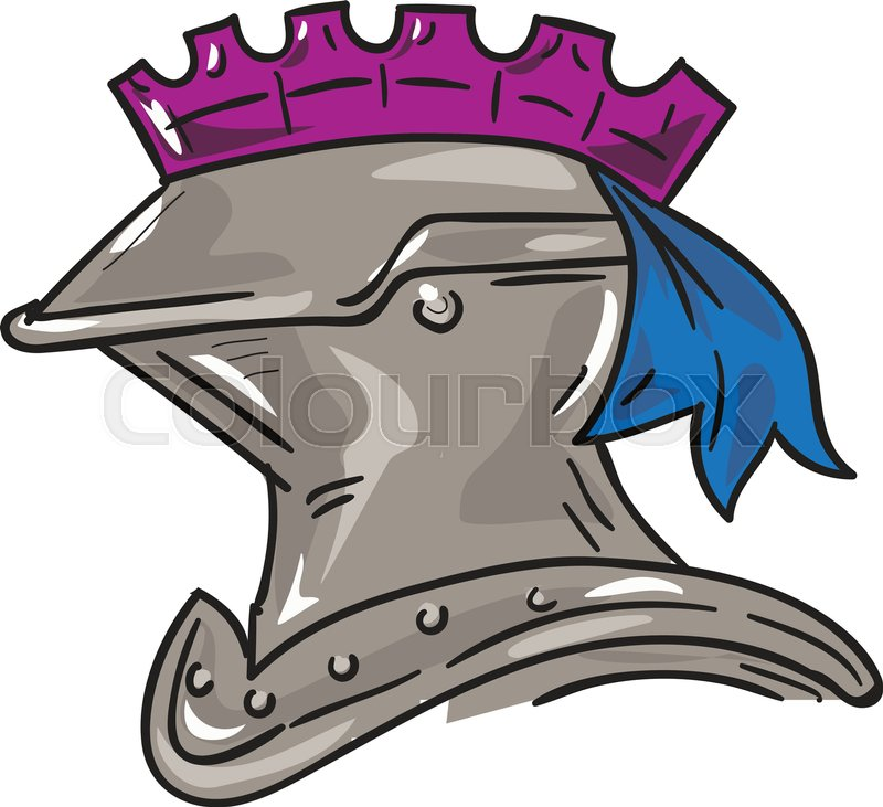 800x731 Drawing Sketch Style Illustration Of A Knight Armor Helmet Viewed