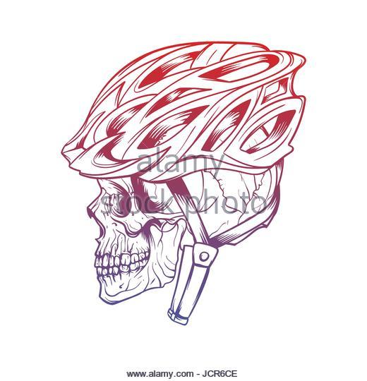 520x540 Vector Illustration Drawing Cyclist Helmet Stock Photos Amp Vector