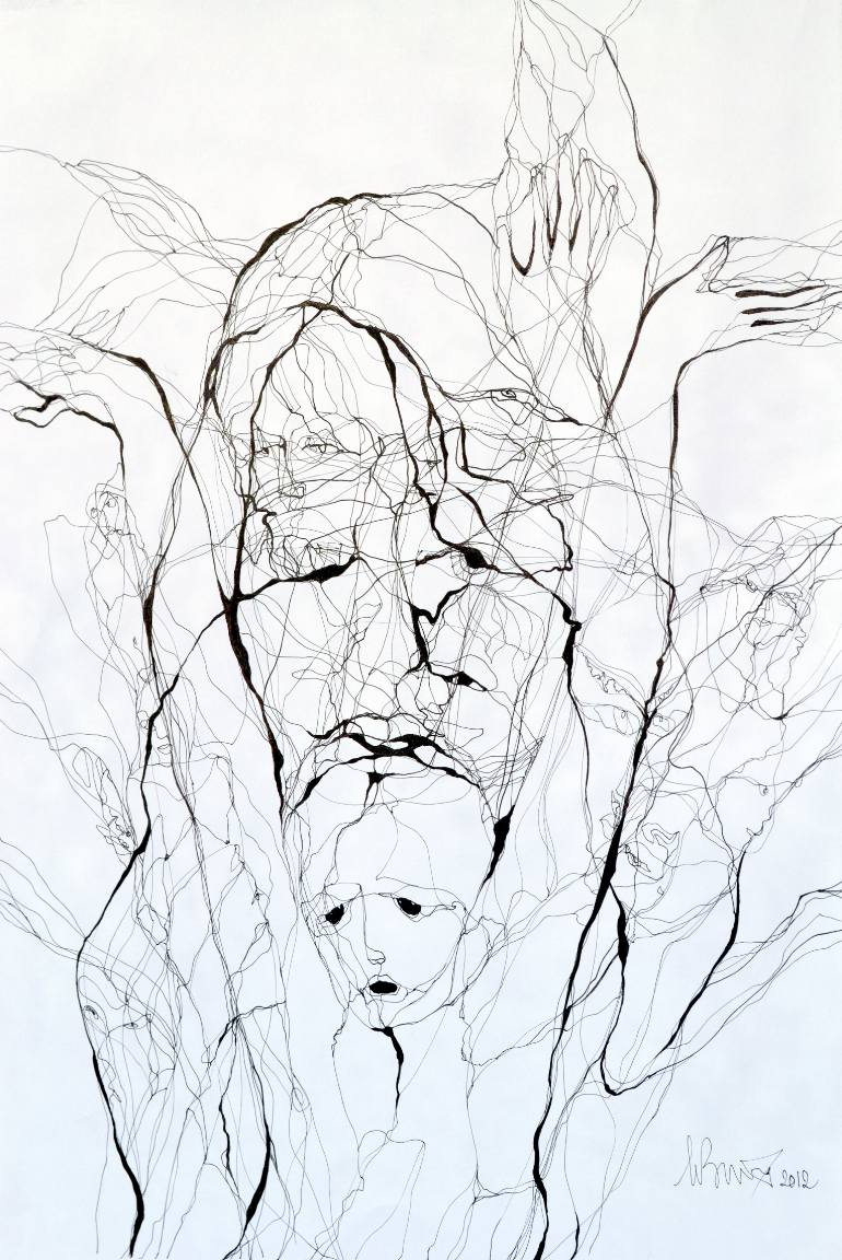 770x1152 Saatchi Art Help Drawing By Boicu Marinela