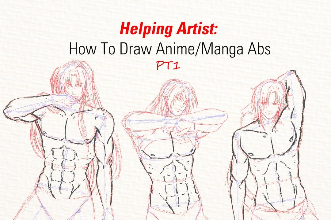 1080x720 Helping Artist How To Draw Animemanga Abs (Pt1)