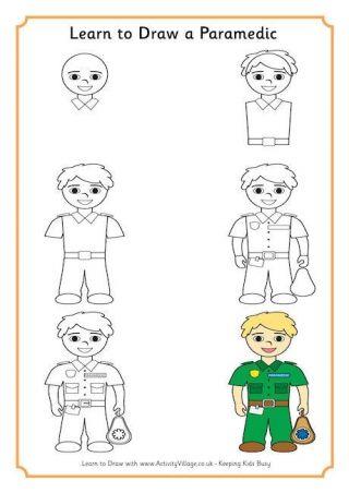 320x452 Learn To Draw A Paramedic Tekenen 4 Leuke Poppentjes
